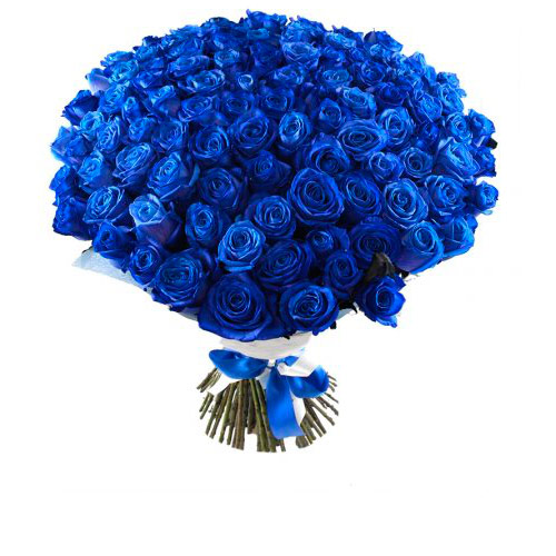Открытка с синими розами, прикольные спокойной ночи